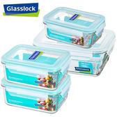 【Glasslock】強化玻璃微波保鮮盒 - 大容量收納4件組