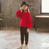 中大尺碼女童秋套裝大童寬鬆休閒時髦兩件套春秋季sd2539【衣好月圓】