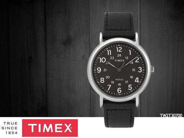 【時間道】TIMEX天美時 經典復刻腕錶– 黑面黑皮(TW2T30700)免運費