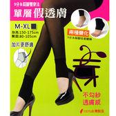 九分踩腳 單層假透膚九分踩腳 雙穿法 不勾紗 透膚感 台灣製 佳賀晴