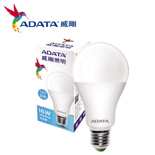 威剛 LED球泡燈-白光(16W)【愛買】