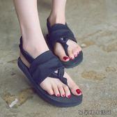 涼鞋女夏平底沙灘鞋女拖鞋海邊夾腳