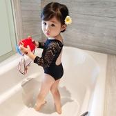 兒童泳衣小童嬰兒寶寶泳衣女童游泳衣連體網紅款女童泳衣中大童