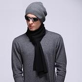 羊毛毛帽-護耳包頭圓頂純色男針織帽2色73wj50【時尚巴黎】