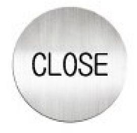 迪多deflect-o 611210C 英文(關門)-鋁質圓形貼牌 / 個