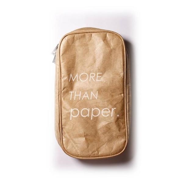 全館83折 More than paper杜邦紙化妝刷包大容量Tyvek防水耐撕收納包燒餅包