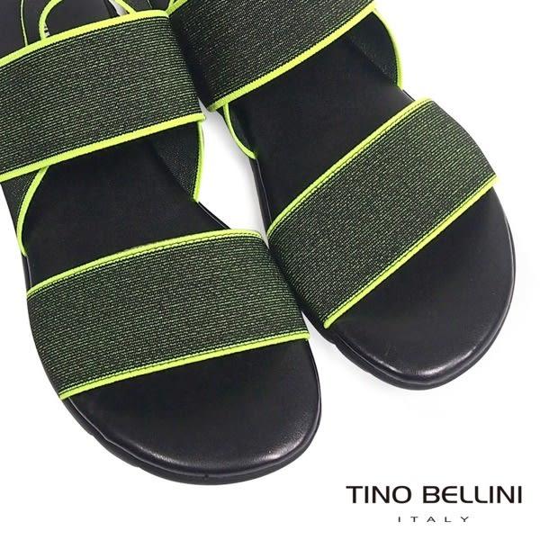 Tino Bellini 義大利進口炫彩螢光繃帶休閒平底涼鞋(螢光綠)_A63078  2016SS歐洲進口款