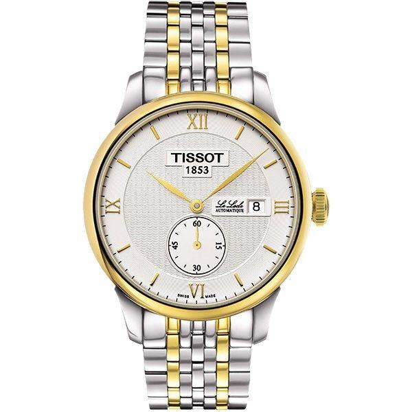 TISSOT 天梭 Le Locle Gent 力洛克小秒針機械手錶-銀x雙色版/39mm T0064282203801