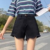 牛仔短褲女夏季2020年新款大碼高腰黑色寬鬆闊腿a字熱褲潮『小淇嚴選』