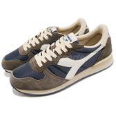 DIADORA 復古慢跑鞋 Camaro 灰 藍 基本款 經典款 毛皮柔軟皮革 運動鞋 男鞋【PUMP306】 DA159886C5603