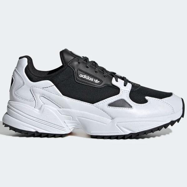 ADIDAS Falcon 女鞋 慢跑 休閒 老爹鞋 復古 白 黑 【運動世界】 EF9024