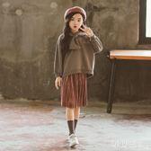 女童兩件套裙新款韓版時髦潮套裝中大童洋氣套裝 zm8005【每日三C】