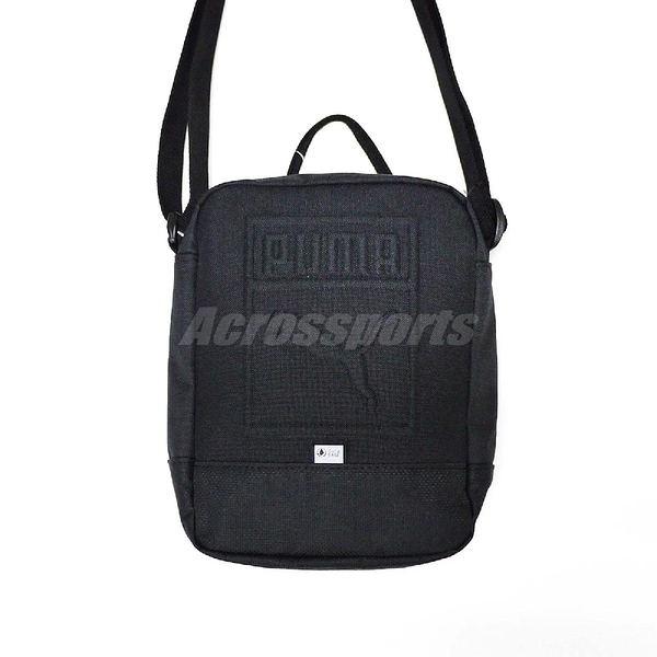 Puma 側背包 Small Portable Bag 斜背包 包包 黑 男女款 【PUMP306】 07558201