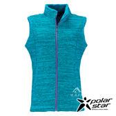 Polarstar 女刷毛保暖背心『藍綠』P17244 保暖.拉鍊背心