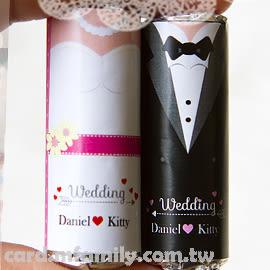 【婚禮主題迷你曼陀珠(客製姓名貼紙100條入)喜糖】-給你好心情/送客創意糖果/婚禮小物幸福朵朵