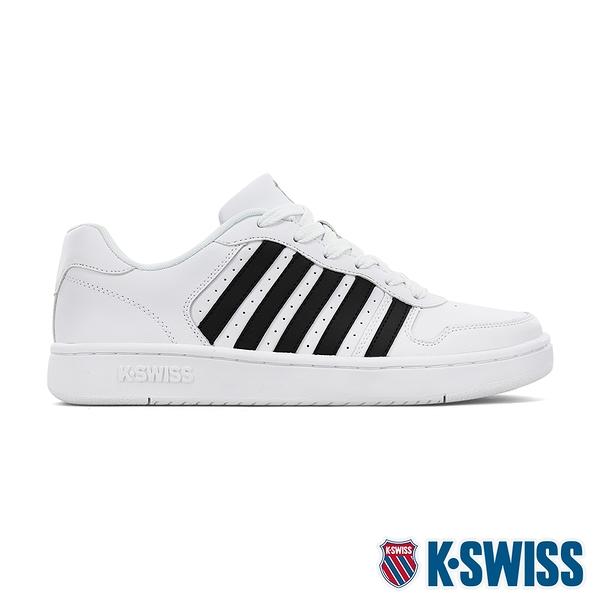 【超取】K-SWISS Court Palisades時尚運動鞋-女-白/黑