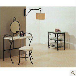 鐵藝 梳妝鏡 鏡框 梳妝台 組合 掛鏡 浴室鏡