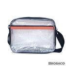 【反光條透明網格側背包-橘 SE-513BK】高科技產業 斜背包 肩背包 工具包 工作包 抗靜電無塵室包