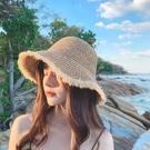 遮阳帽 帽子女韓版學生夏季新款時尚防曬太陽帽圓臉百搭可愛遮陽草帽