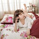 床包 / 雙人【繡球花語粉】含兩件枕套  100%精梳棉  戀家小舖台灣製AAS201