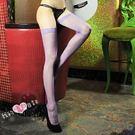 紫色蕾絲邊大腿網襪