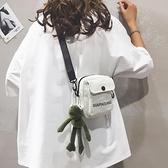 新款女包包2019女小包包帆布斜背小包裝手機2020潮可愛卡通單肩包 【蜜斯sugar】