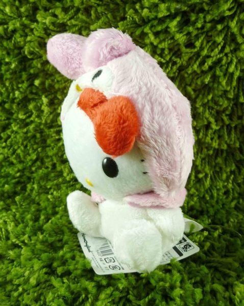 【震撼精品百貨】Hello Kitty 凱蒂貓~變裝絨毛娃娃-粉兔子
