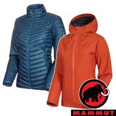 【MAMMUT 長毛象】女 Convey 3 GT兩件式連帽外套『椒橙/水鴨藍』1010-27420 露營 登山 外套 羽絨 保暖