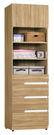 【森可家居】梅克爾2尺四抽衣櫃(單只-編號2) 7ZX139-6 衣物收納 木紋質感 無印風 北歐風