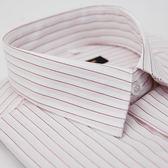 【金‧安德森】白底粉紫條紋短袖襯衫