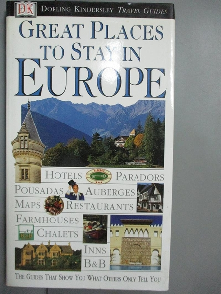 【書寶二手書T1/旅遊_GQR】Great Places To Stay In Europe