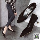 高跟鞋 新款韓版細跟春單鞋中跟貓跟高跟鞋百搭尖頭女鞋職業ol工作鞋 聖誕慶免運