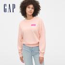 Gap女裝活力亮色落肩袖套頭休閒上衣544924-玫瑰花瓣色