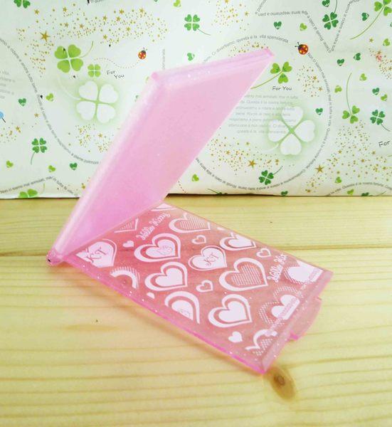 【震撼精品百貨】Hello Kitty 凱蒂貓-摺疊鏡-粉心(S)