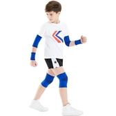 護膝兒童護膝護肘運動套裝足球籃球裝備夏天護腕防摔薄款小孩全套聖誕交換禮物