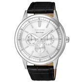 CITIZEN 超越時代三眼計時光動能腕錶/BU2071-01A