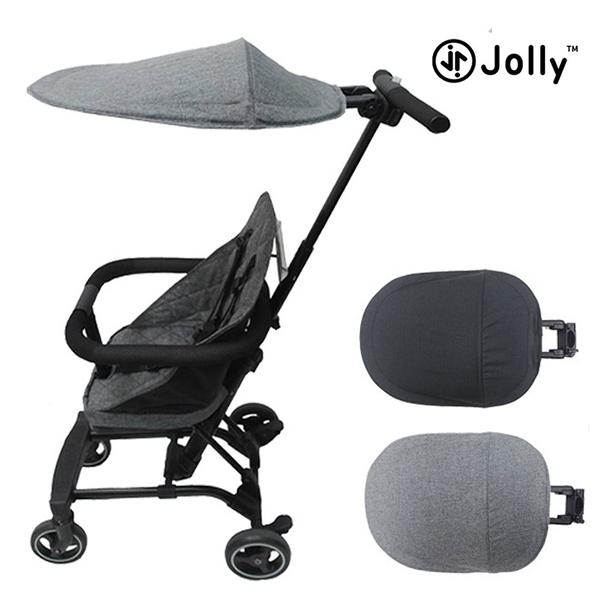 英國 JOLLY 輕便型摺疊手推車遮陽罩 遮陽棚 嬰兒推車 黑/灰 遮陽罩 3023 免運