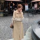 秋冬新款韓版女裝簡約單排扣中長款針織開衫洋裝   【全館免運】