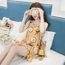 睡衣 睡衣女夏季薄款吊帶甜美家居服可愛韓版短袖兩件套裝學生性感小熊