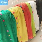 【V9192】shiny藍格子-經典好搭.夏季彩色扣子針織防曬衫