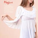 魔法e裳《網紗公主袖荷葉邊罩衫》-X02...