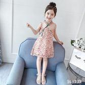 女童旗袍 裙夏裝2019新款洋氣小女孩改良漢服中國風唐裝兒童連身裙 nm21694【甜心小妮童裝】