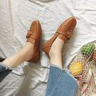 (低價促銷)平底單鞋女夏季2018新品正韓百搭一腳蹬方頭社會豆豆鞋
