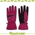 【Mountneer 山林 PRIMALOFT防水觸控手套《深桃紅/紫》】12G08/防風/透氣/保暖