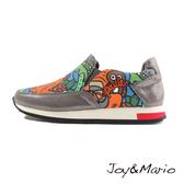 【Joy&Mario】歐美塗鴉運動休閒鞋 - 73033W DK GREY