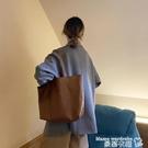 托特包 大容量包包女2020新款潮網紅托特包小眾設計側背大包大學生上課包 曼慕