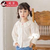 全館85折 船鼠女童洋氣襯衫長袖韓版2019新款純棉娃娃衫兒童襯衣女寶寶上衣 百搭潮品