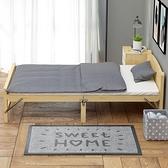 折疊床折疊床單人家用成人簡易1.2米出租房午休兒童辦公室實木板雙人床