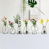 極簡北歐風 ins鐵藝花瓶 簡約創意 擺件 裝飾拍攝道具仿真花 igo