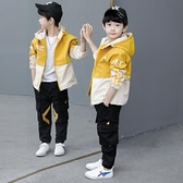 男童外套 童裝男童秋裝外套洋氣兒童正韓中大童男孩春秋沖鋒衣潮-Milano米蘭